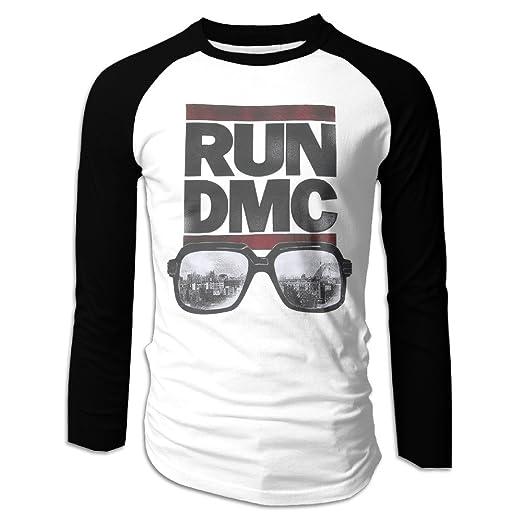 6a29bf1f9f6 Run Dmc Glasses Nyc T Shirt Logo Mens 100% Cotton Long Sleeve Awesome  Athletic Baseball
