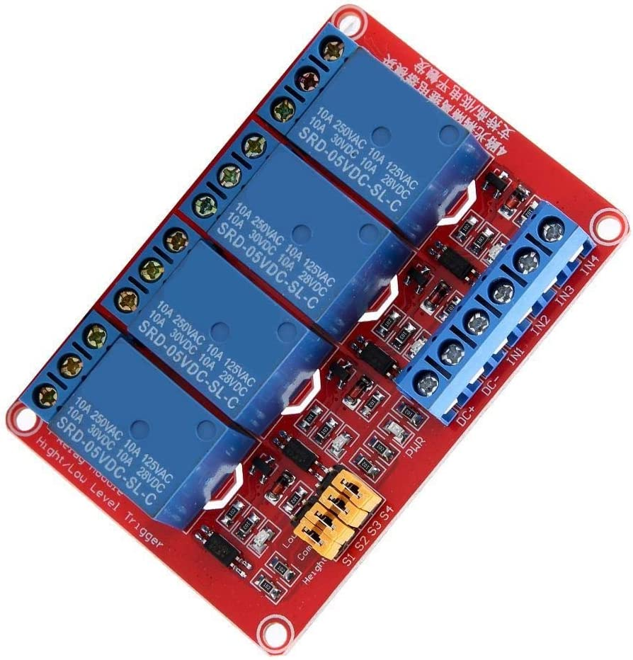 24V dgtrhted modul relai 5v,Bo/îte de Module de Relais doptocoupleur /à 4 canaux High /& Bas Trigger 5V 5V 12V