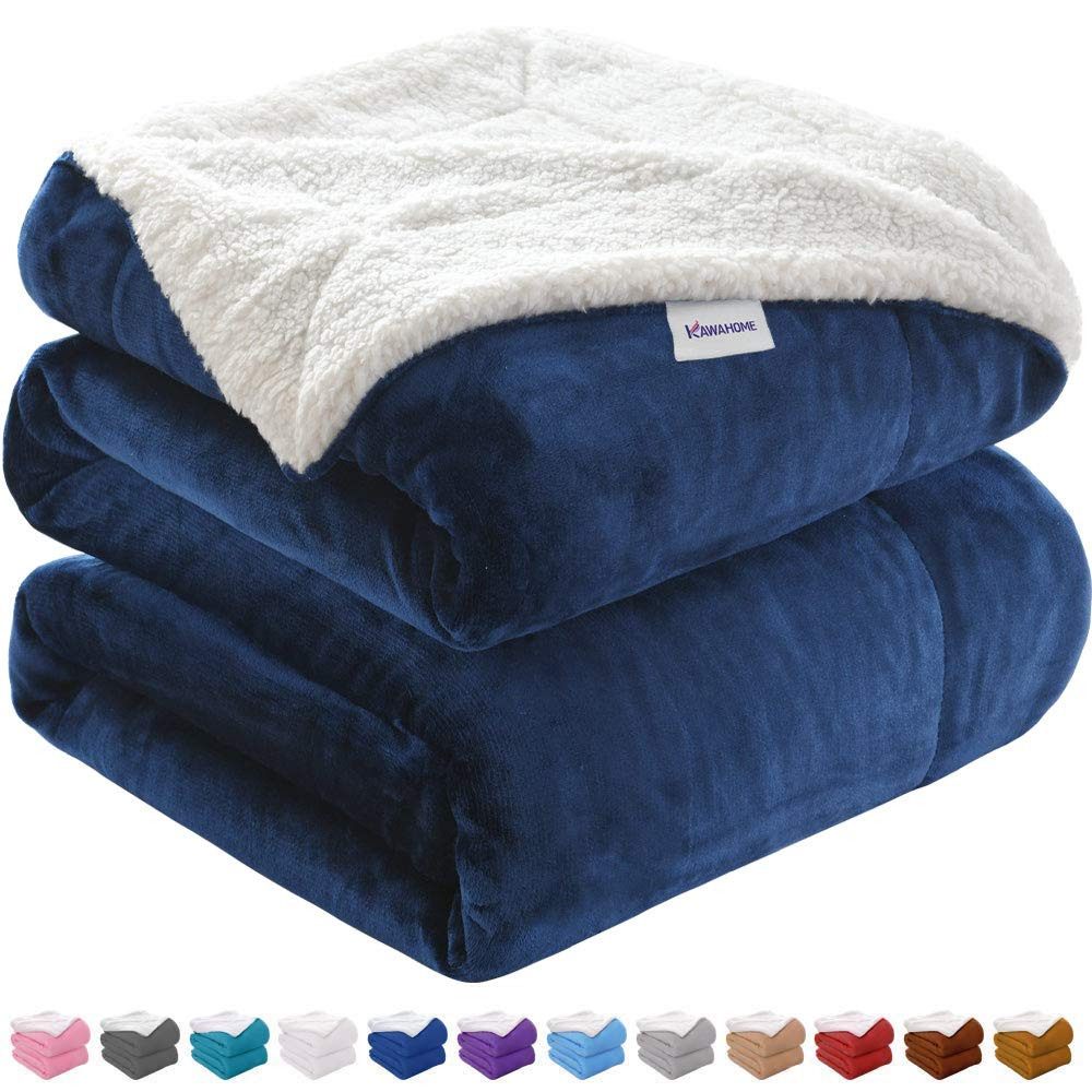 Sherpa Luxurious Christmas Blanket Throw 50 x 60 Inch