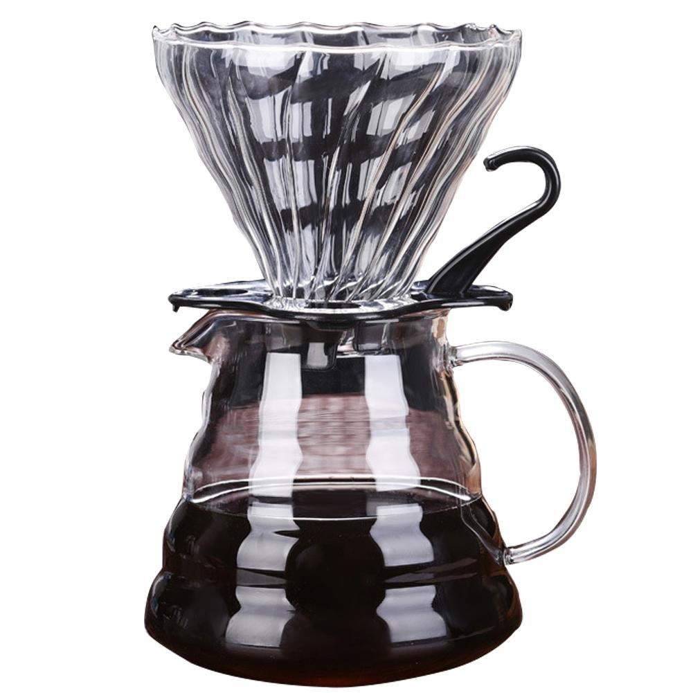 Acquisto Falliback – Caffettiera a Mano in Vetro ad Alta Resistenza al borosilicato, Resistente al Calore, con Filtro e Manico di Spessore, 600 ml Prezzi offerta
