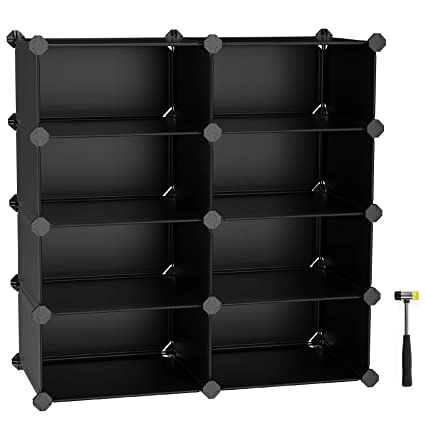 Elegant SONGMICS Shoe Rack, DIY Storage Cube Organizer, 8 Cube Multi Functional Shoe