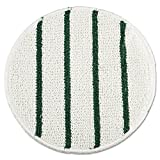 Rubbermaid P271 Low Profile Scrub-Strip Carpet Bonnet, 21'' Diameter, White/Green, 5/Carton