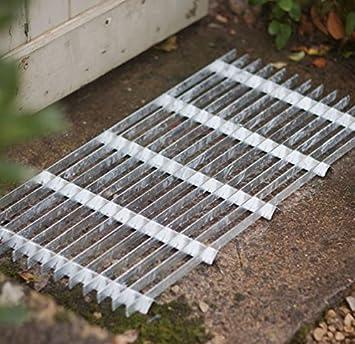 CKB LTD® - Felpudo de acero galvanizado para puerta de entrada de jardín, resistente, tamaño grande