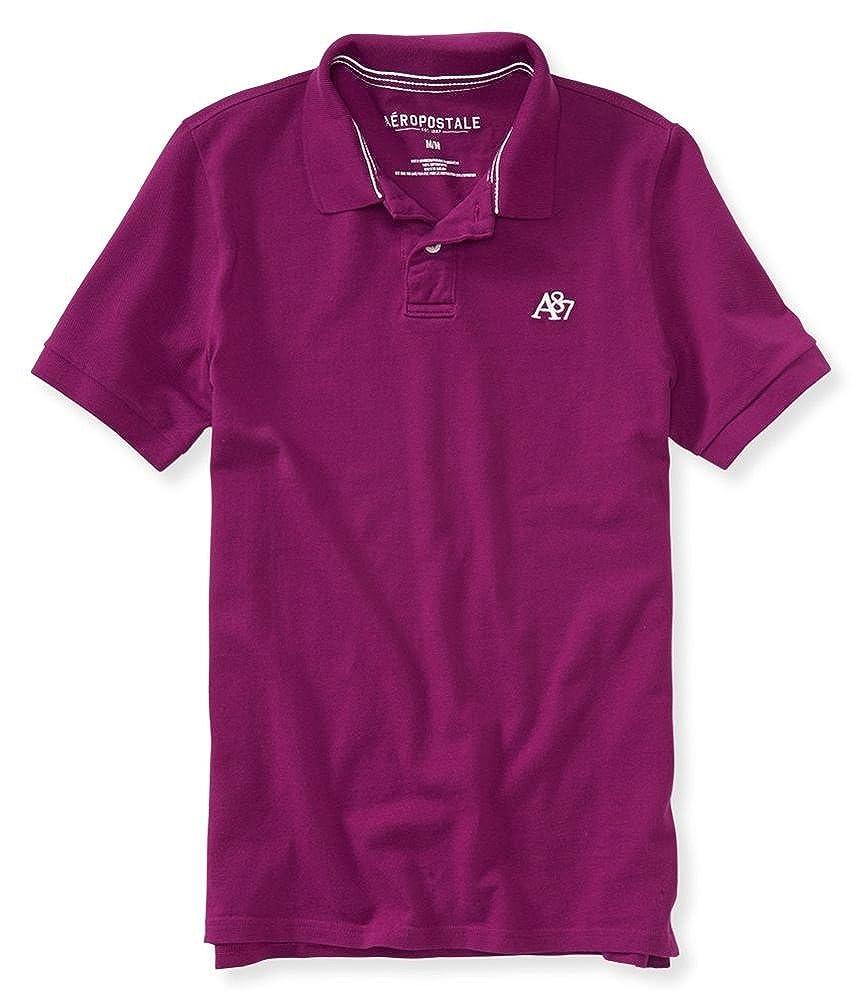 Aeropostale Mens A87 Uniform Rugby Polo Shirt