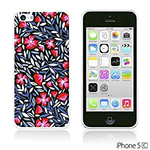 OnlineBestDigitalTM - Flower Pattern Hardback Case for Apple iPhone 5C - Tiny Branches Flower