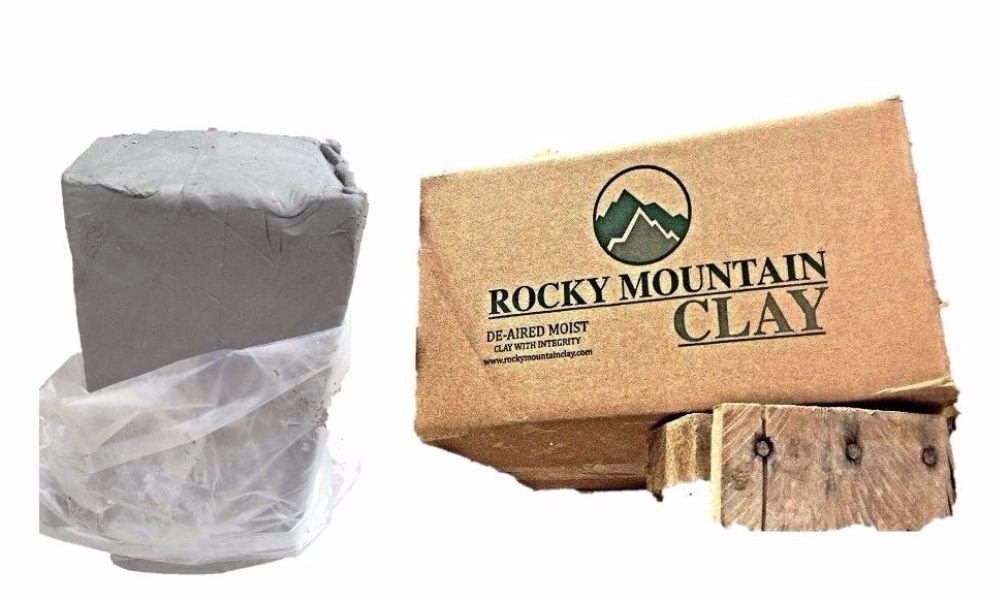Pottery Clay - 50 lb of Low Fire Cone 06 White Clay - Rocky Mountain Clay CT3