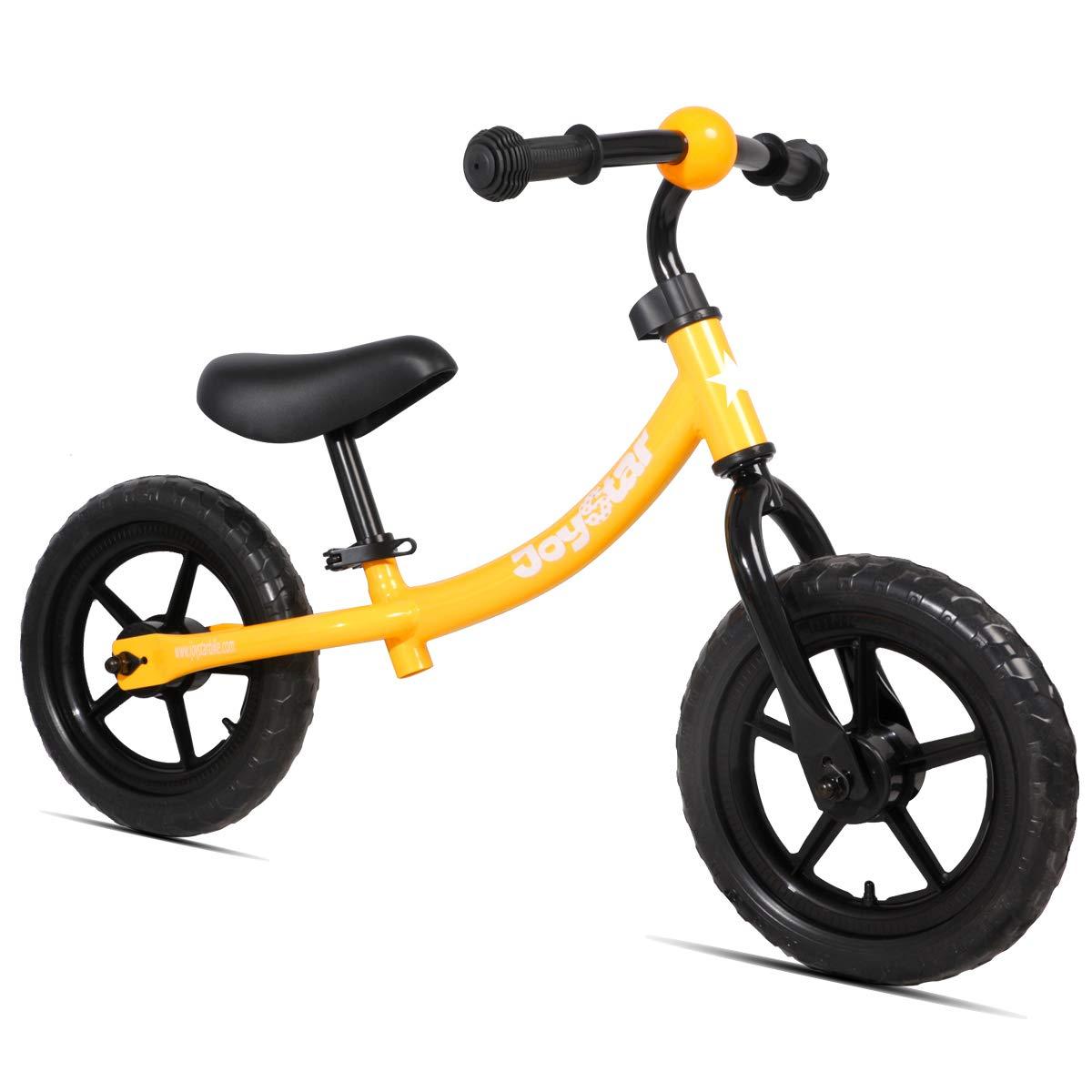 JOYSTAR Balance Bike for 1.5-5 Years Boys & Girls, Unisex Toddler Push Bicycle for Child, 12 inch Kids Glider Bike, Children Slider Cycle, Orange
