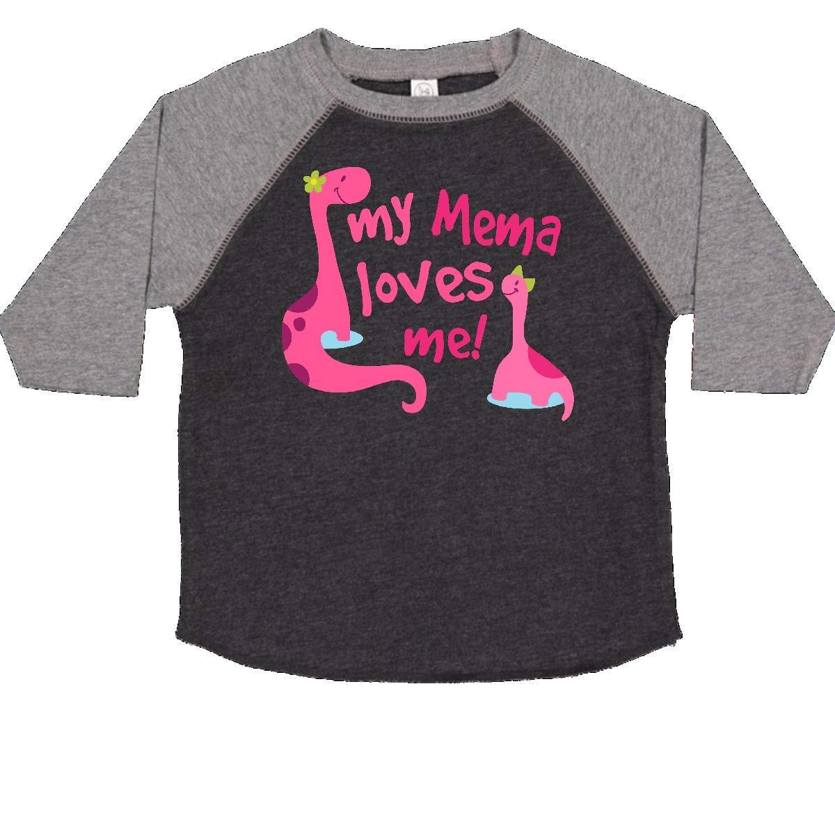 inktastic My Mema Loves Me Girls Gift Toddler T-Shirt