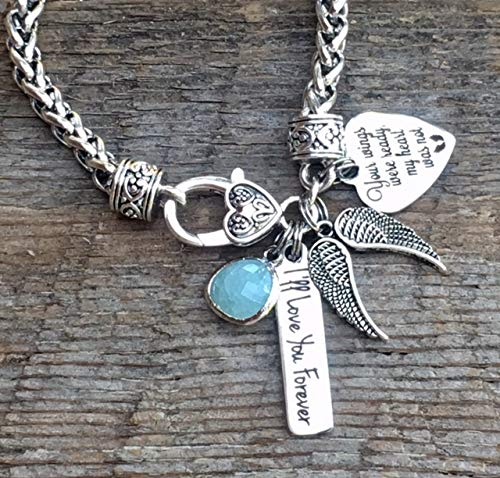 ButtonIt Remembrance jewelry, SYMPATHY gift, In memory of sympathy gift, remembrance gifts, Your wings were ready my heart was not, ANGEL wings, grief mourning jewelry, loss of mother, loss of father
