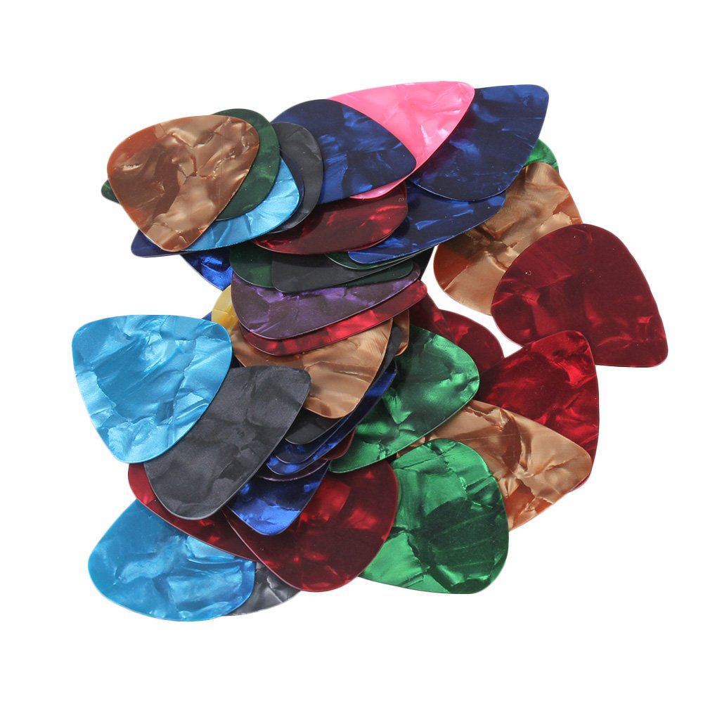 1 Set of 50 pieces Celluloid Guitar Picks 0.46mm thin 楽器用 moyinmusic   B00EQ25J2M