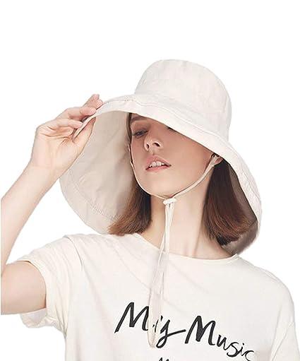 829751208f17b LYHAT Women s Big Brim Sun Hat Foldable Polyester Peach Skin Floppy Summer Bucket  Hat