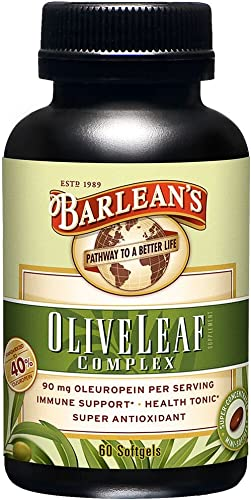 Barlean s Olive Leaf Complex, 60 Count 90mg
