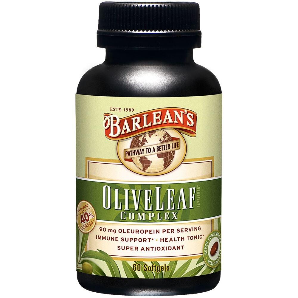 Barlean's Olive Leaf Complex, 60 Count (90mg)