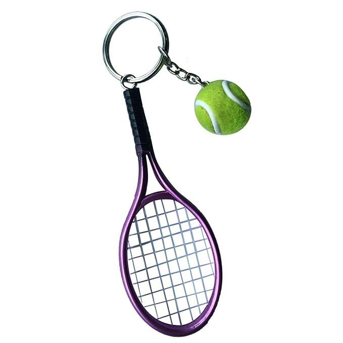 Homyl Llavero Mini Pelota de Tenis con Raqueta Color Verde ...