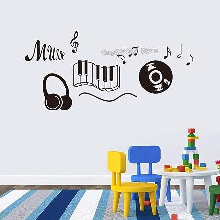 guijiumai Símbolos Musicales Música Botón Vinilo Tatuajes de Pared ...