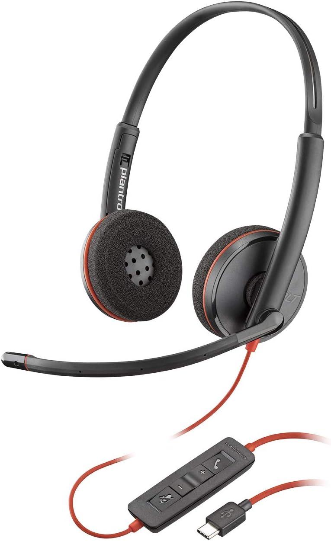 Plantronics Blackwire 3220 USB-C Headset, On-Ear Mono Headset, Wired