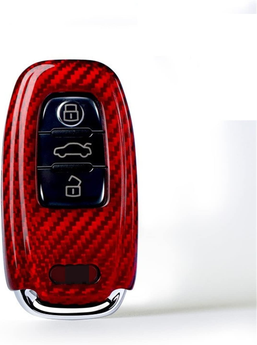 TANGSEN Smart Key Fob Case Red TPU Protective Cover for Audi A4 A5 A6 A7 A8 Q5 S5 S6 S7 S8 3 4 Button Keyless Entry Remote Control Accessories