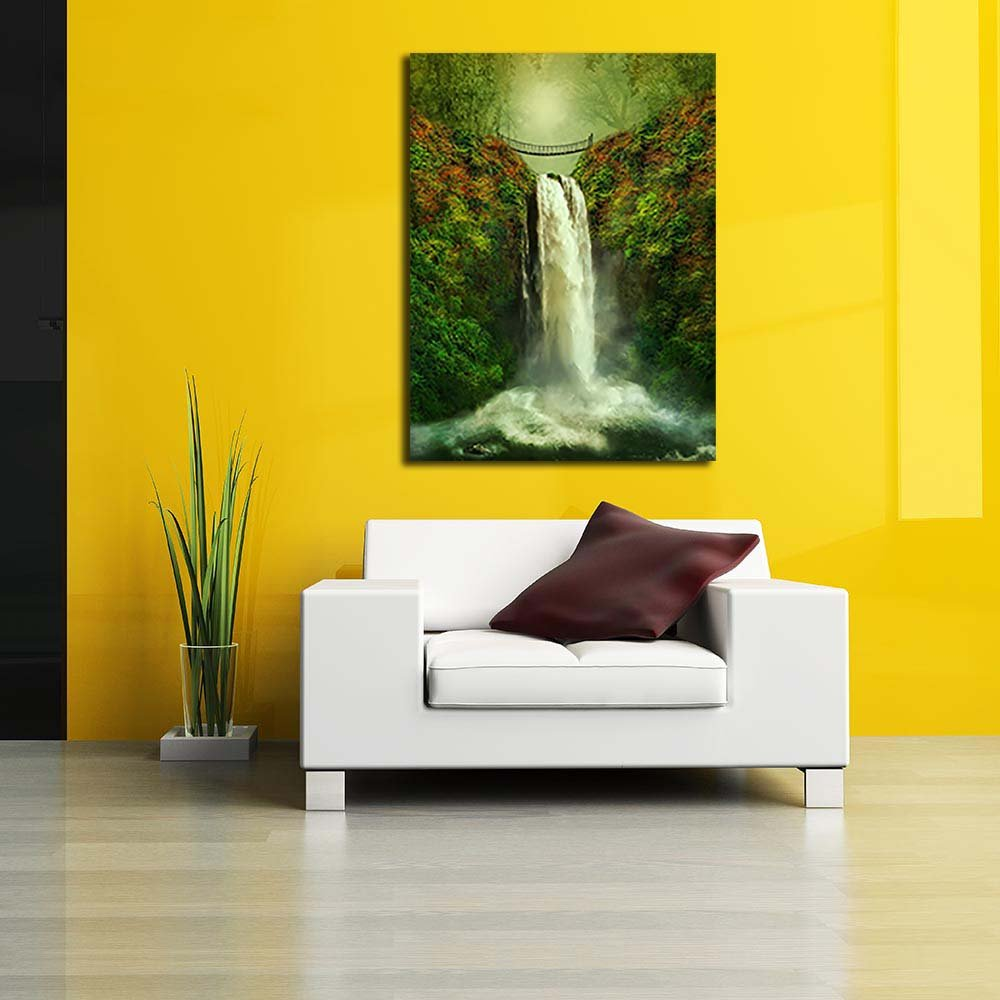 Pitaara Box Tropical Landscape Unframed Canvas Painting 40inch 30.1 x 40inch Painting ec1924