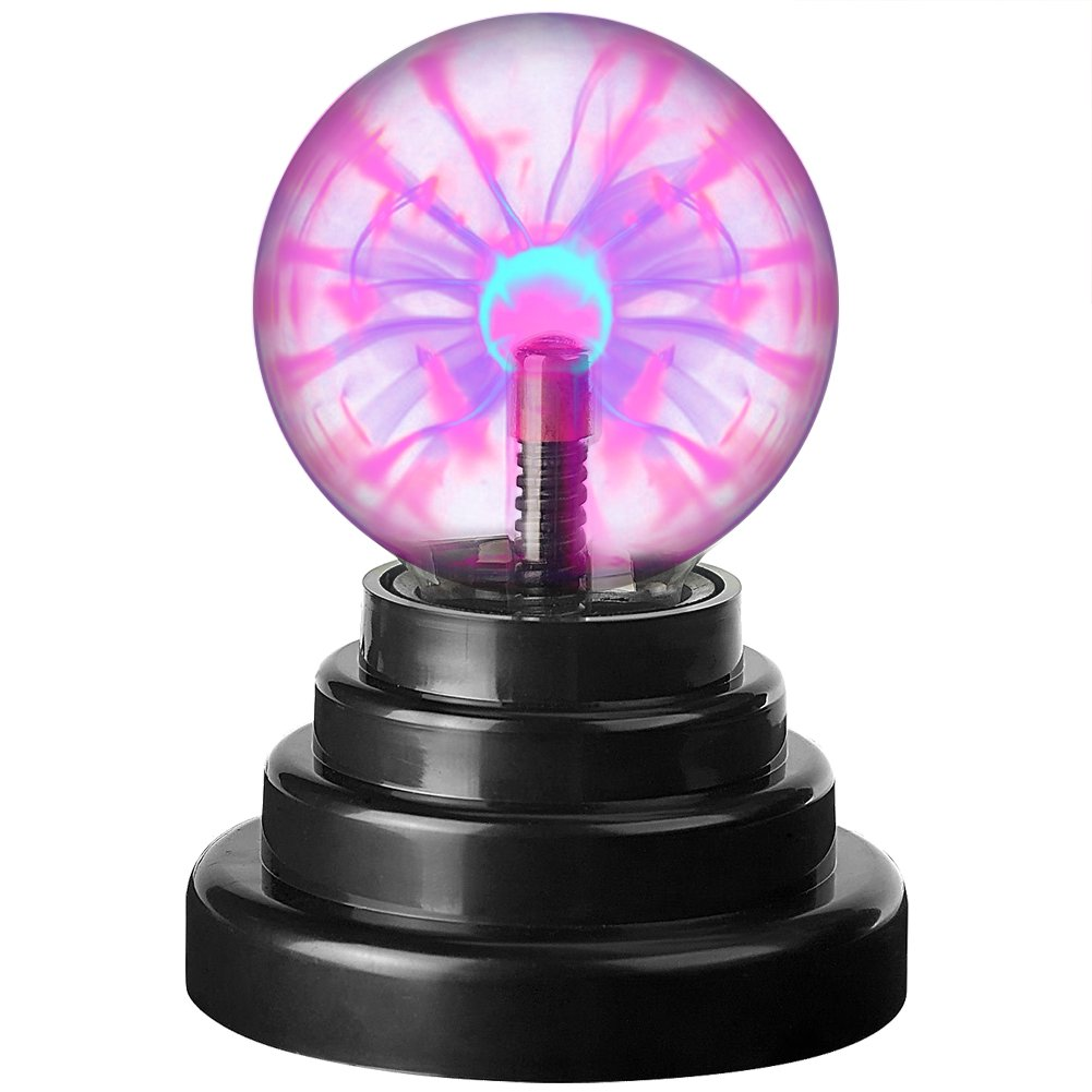 GOBIKE Plasma Ball Lamp – Large Electric Globe Toy Light Mini Tesla Energy Coil Best Science Toy for Kids