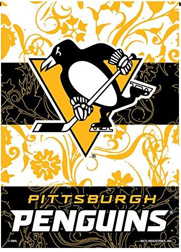Pittsburgh Penguins Rico Premium 2-sided GARDEN Flag Outdoor House Banner Hockey ()