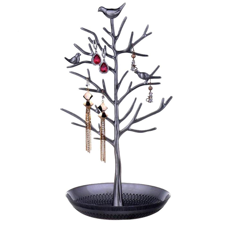 Youkara espositore per gioielli albero organiser braccialetto collana del rack gancio torre con anello orecchino vassoio portaoggetti da tavolo Display_0516_uk_32
