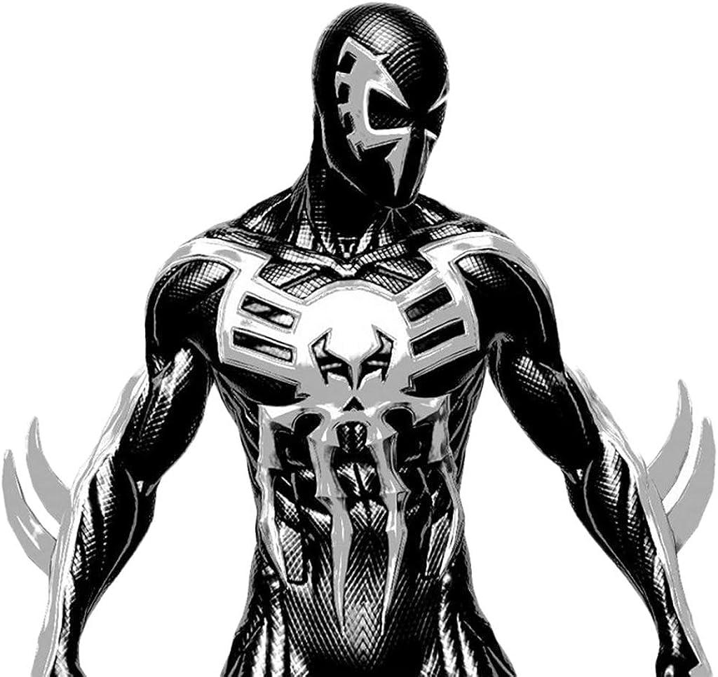 QWEASZER Traje de Spiderman en blanco y negro Unisex para hombre ...