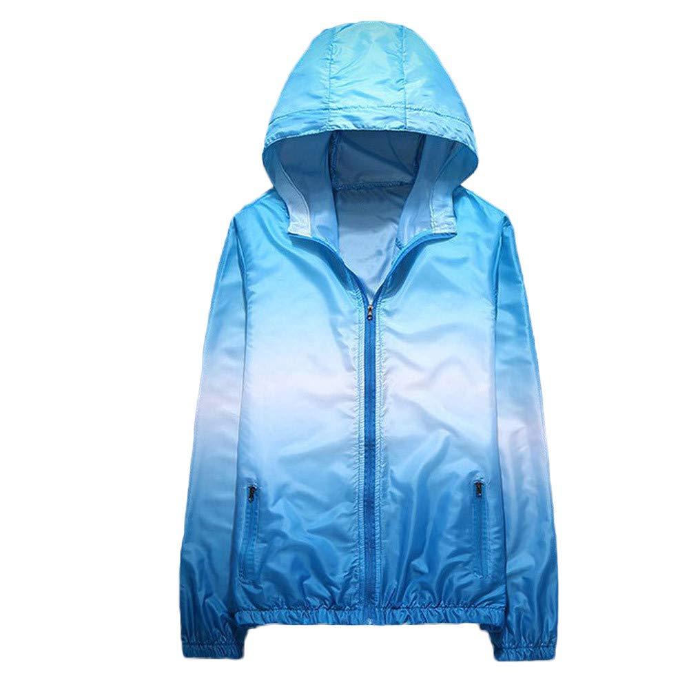 VêTements De Protection Solaire Sport Veste en Sweat DéGradé Automne Hiver Hoodies Outerwear LâChe DéContracté pour ExtéRieure