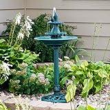 41'' Tiered Pedestal Fish Fountain Birdbath