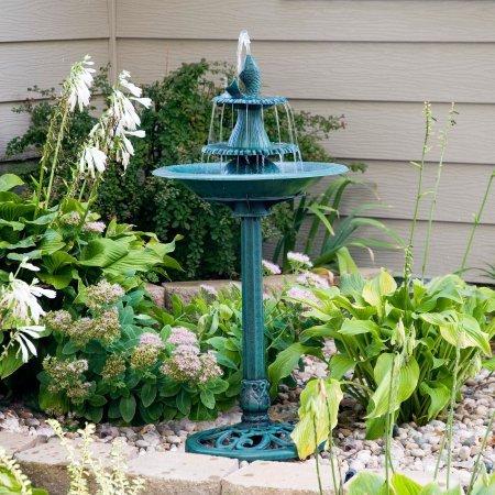 41'' Tiered Pedestal Fish Fountain Birdbath by Alpine