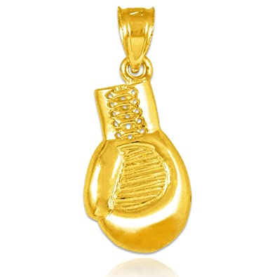 Amazon 10k gold boxing glove charm sports pendant boxing 10k gold boxing glove charm sports pendant aloadofball