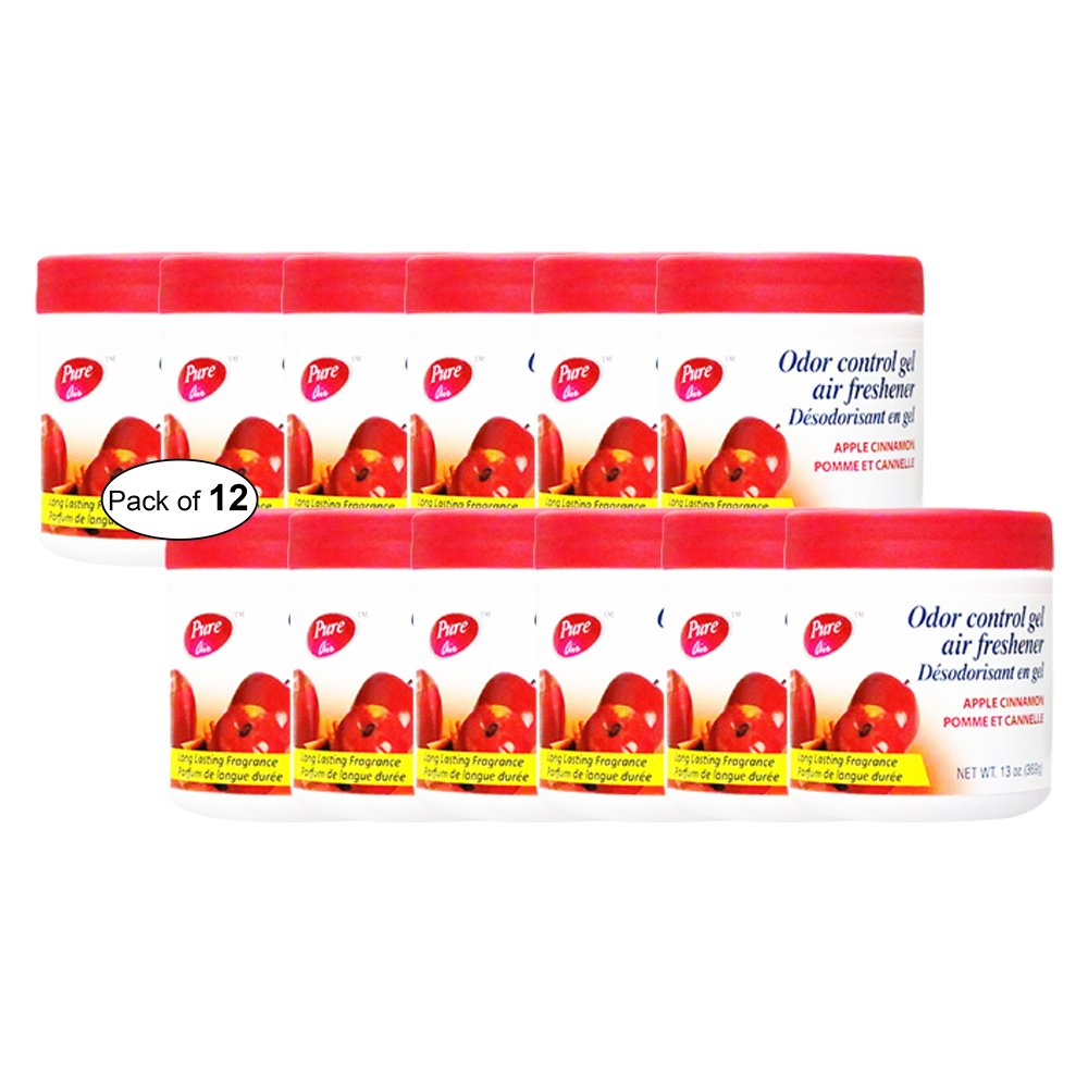 Pure Air Odor Control Gel Air Freshener- Apple Cinnamon (369g) (Pack of 12)