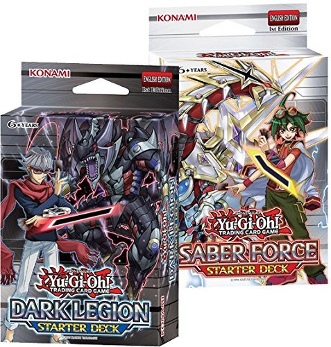 - YuGiOh Saber Force & Dark Legion Starter Decks 1st Ed by KOMAMI