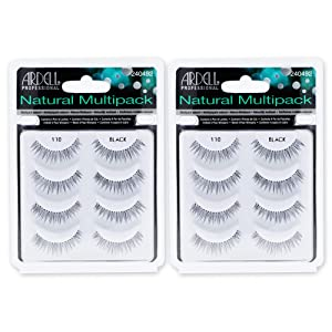 Ardell Natural 110 Black, 4 Pairs x 2 Packs