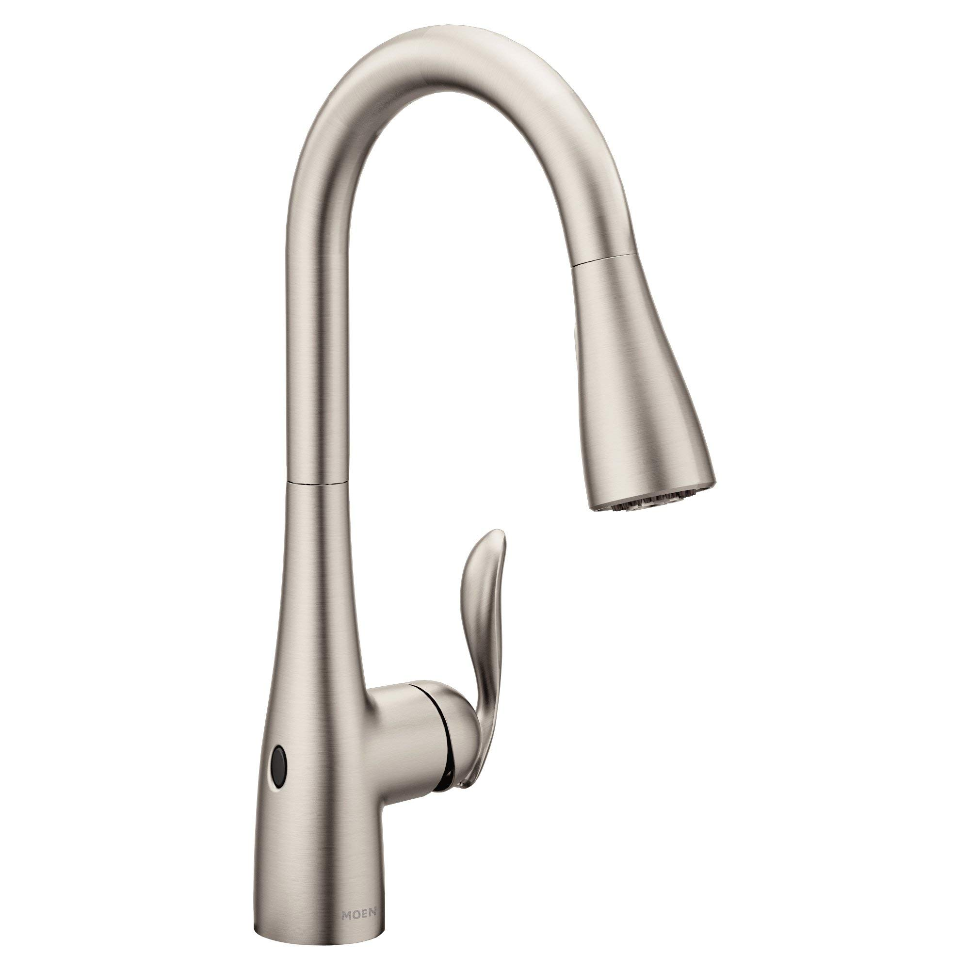 Moen 7594EWSRS Arbor Motionsense Wave Sensor Touchless One-Handle Pulldown Kitchen Faucet Featuring Power Clean , Spot Resist Stainless (Renewed) by Moen