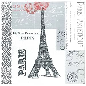 "Paperproducts Design 6902 Paris Eiffel Tower Paper Luncheon Napkins,6.5"" x 6.5,20 Pack"