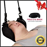 Premium Portable and Comfortable Neck Hammock Cervical Traction Device, 10 Minutes Instant Pain Relief for Neck, Back, Head and Shoulder, Durable and Flexible, Perfect Gift for Men and Women.