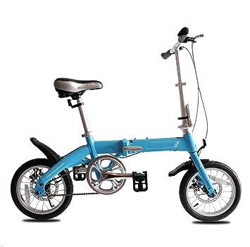 MASLEID 14 pulgadas de niños y niñas infantiles para bicicletas plegables aleación estudiante mini bici ,