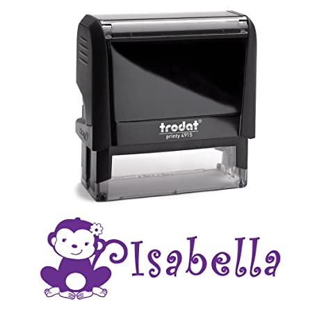 amazon com personalized kids name self inking stamp monkey