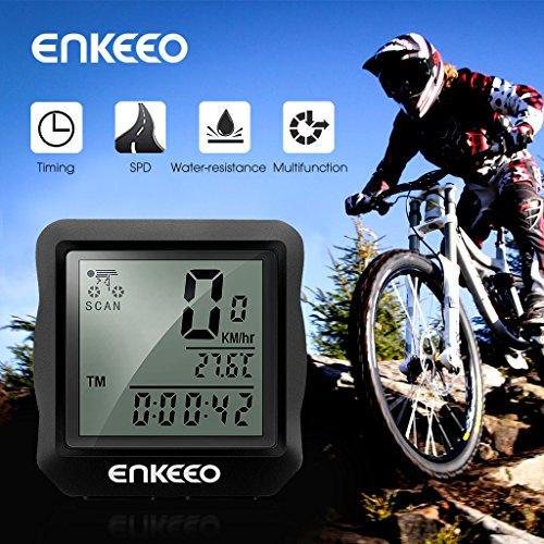 Enkeeo Wired Bike Computer Bicycle Speedometer ...