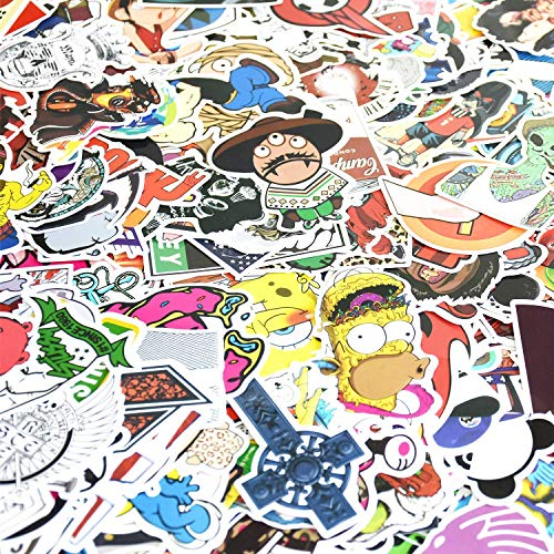Stickers 600 pcs Laptop Stickers Car Motorcycle Bicycle Luggage Decal Graffiti Patches Skateboard Stickers for Laptop - No-Duplicate Sticker Pack ()