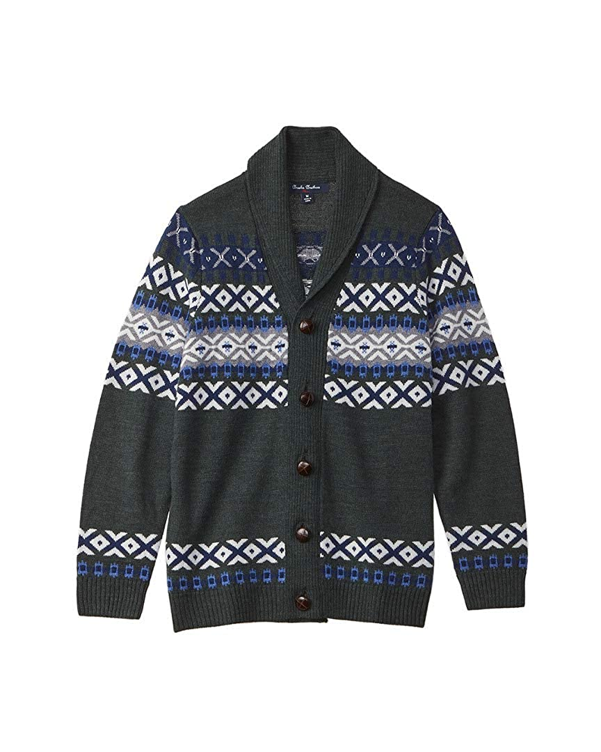 Brooks Brothers Boys Wool-Blend Cardigan S Green