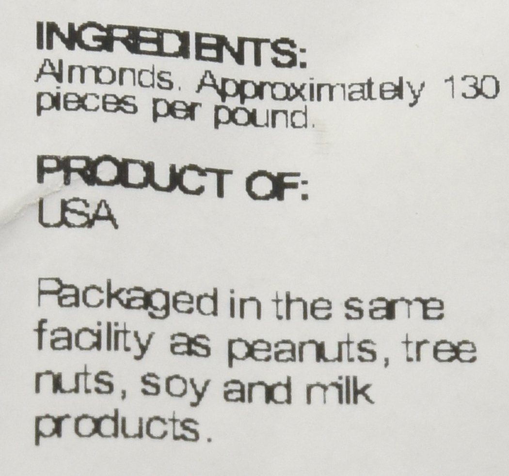 Sincerely Nuts - Natural Whole Raw Almonds Unsalted No Shell | 5 Lb. Bag | Low Calorie, Low Sodium, Kosher, Vegan, Gluten Free | Gourmet Kosher Snack Food | Source of Fiber, Protein, Nutrients by Sincerely Nuts (Image #4)