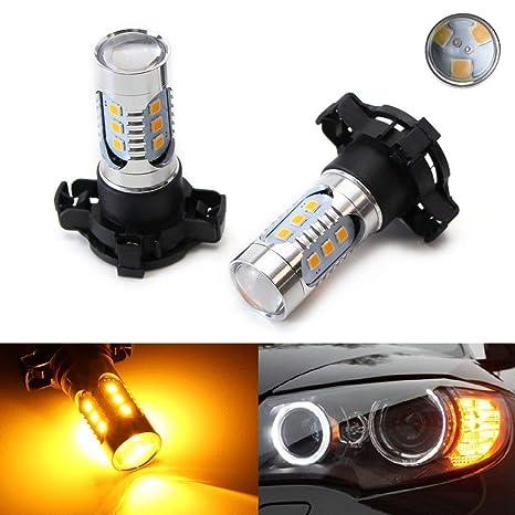 7e7a26f5e252 Amazon.com  iJDMTOY (2) Amber Yellow Error Free 15-SMD PY24W 5200s LED Bulbs  For BMW E92 E93 3 F10 F07 5 Series E83 F25 X3 E70 X5 E71 X6 Z4  Automotive