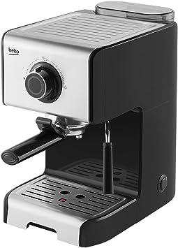 Beko CEP5152B - Cafetera Espresso con espumador de leche, 15 Bares, 1200W, 1 ó 2 tazas, Café Molido, Acero Inox: Amazon.es: Hogar