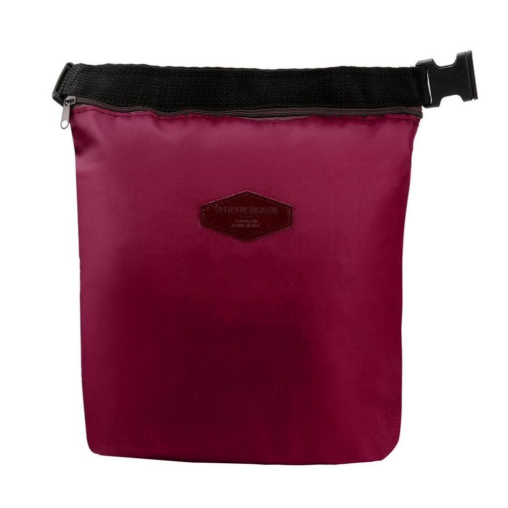 Clearance Lunch bag,AIEason Waterproof Thermal Cooler Insulated Lunch Box Portable Tote Storage Picnic Bags (Wine Red)