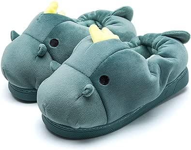 Zapatillas De Moda para Mujer Zapatillas De Interior Zapatillas De Felpa Cálidas Zapatillas De Animales Zapatillas De Cerdo/Zapatillas De Hipopótamo