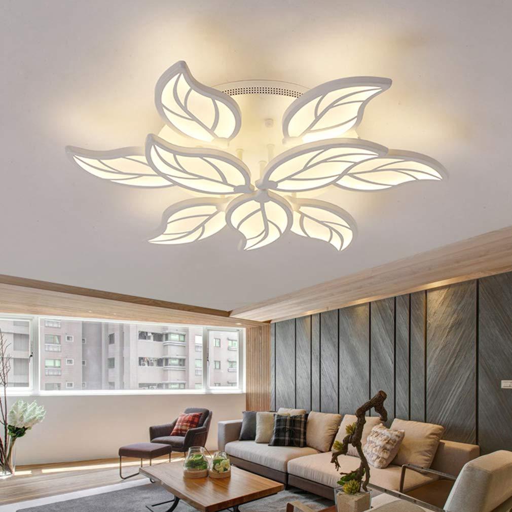 LED Deckenleuchte Wohnzimmerlampe Moderne Designer-Lampe Kreativ Metall Acryl Acryl Acryl Blattform Decke Leuchte Deckenlampe Innenraumlampe Beleuchtung Schlafzimmer Esszimmer Küche Dimmbar Fernbedienung 60 w 7b0f23