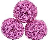 Silicone Scrubber Sponge, 6 pieces, Pink