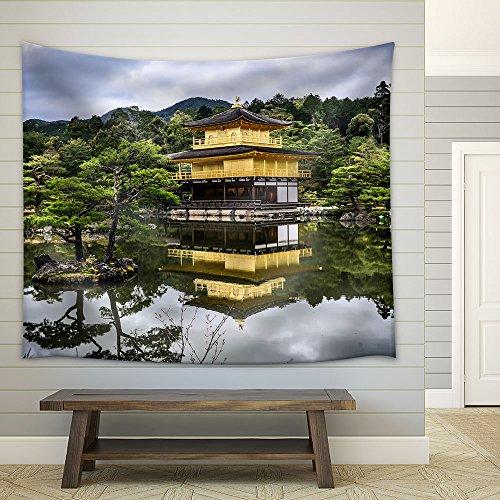 Landscape Oriental Building Lake Fabric Wall