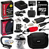 All Action Sports Accessories Kit for GoPro HD Hero3, Hero3+ Black Silver White with 32GB, x2 Battery, Charger, HDMI, Stabilizer Handle, Head Strap, Case, Floating Strap, Cleaning Kit, Tripod